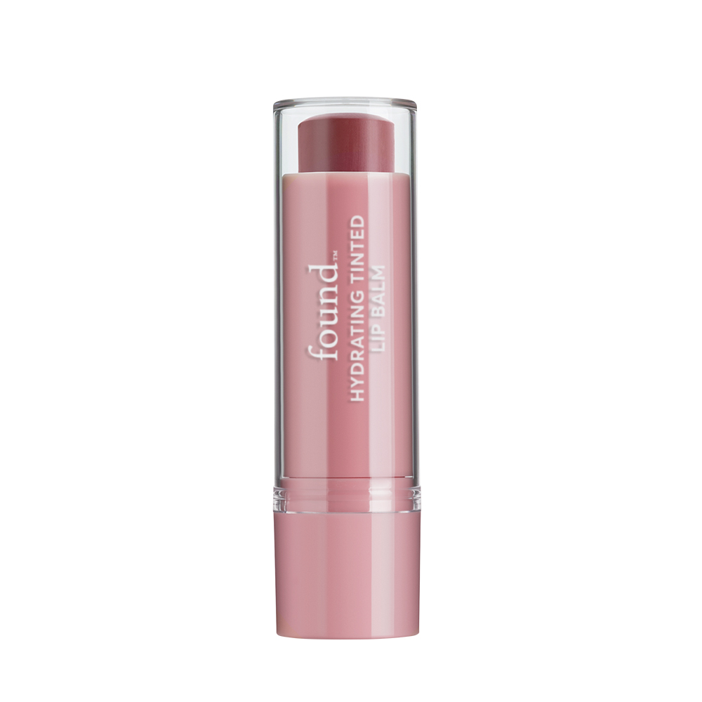 FOUND Lip Hydrating Tinted Lip Balm, 40, Poppy Kiss, 0.125 Fl Oz ...