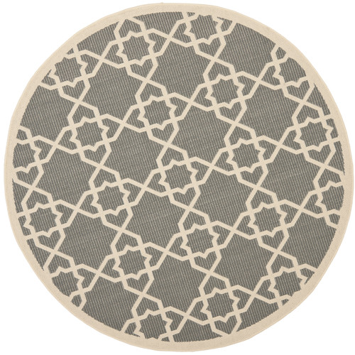 Safavieh Courtyard Grey / Beige Outdoor Rug