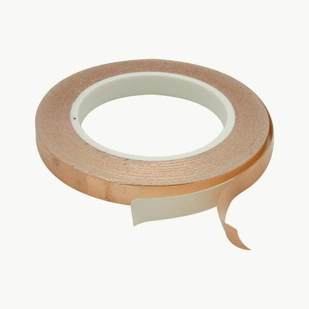 JVCC CFL-5A Copper Foil Tape: 1/2 in. x 36 yds. (Copper) Solder Copper Tape
