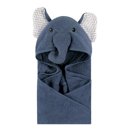 Hooded Swim Towels (Little Treasure Animal Face Woven Terry Hooded Towel - Chevron)