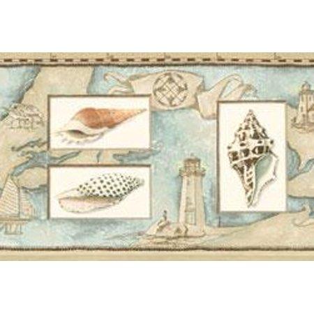 877767 Seashells Wallpaper Border Bv021141b