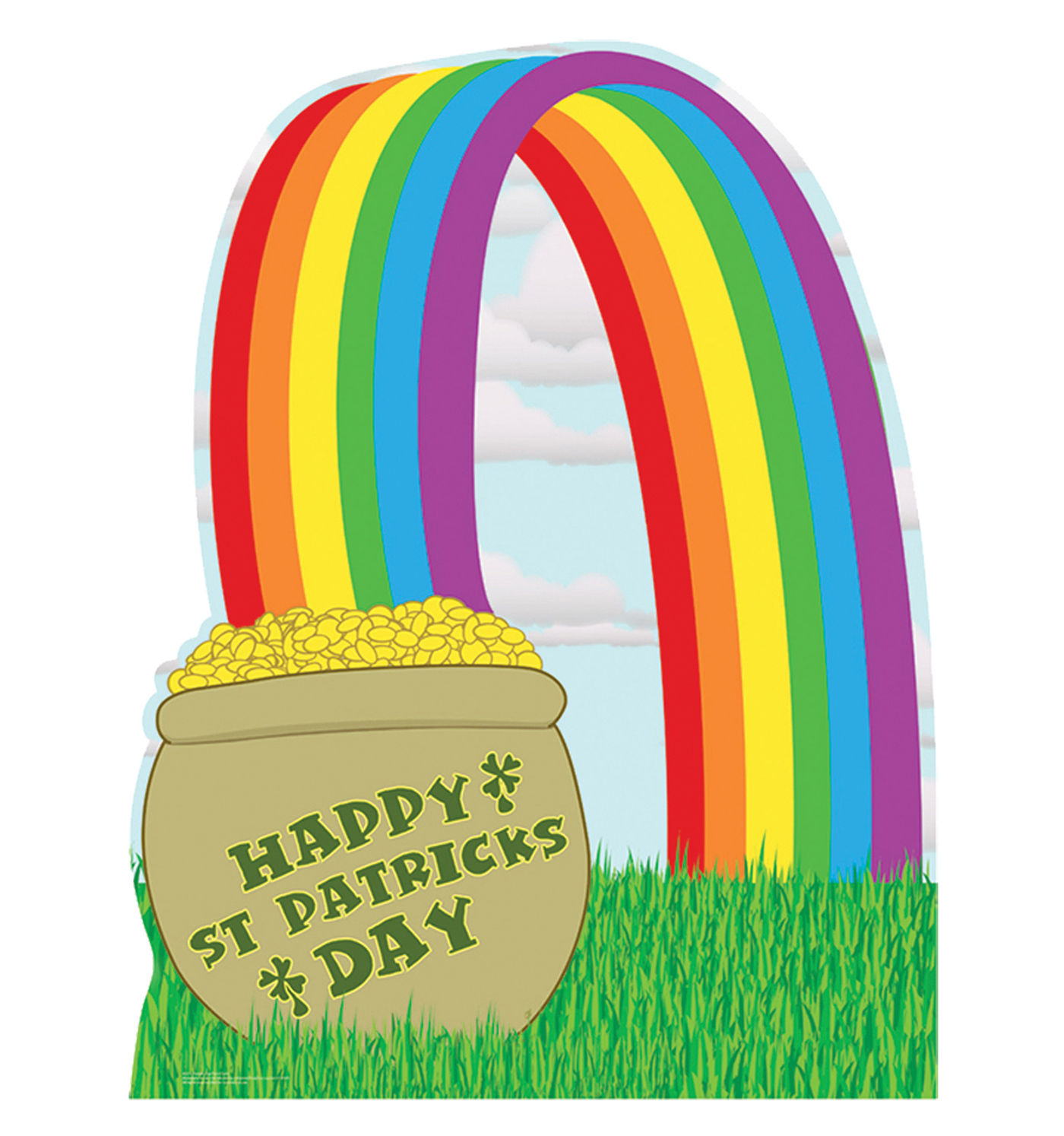 Advanced Graphics 803 Pot Of Gold With Rainbow Life-Size Cardboard Stand-Up