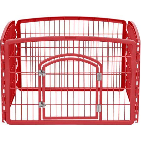 Iris Small Animal (IRIS 4-Panel Pet Pen with Door,)