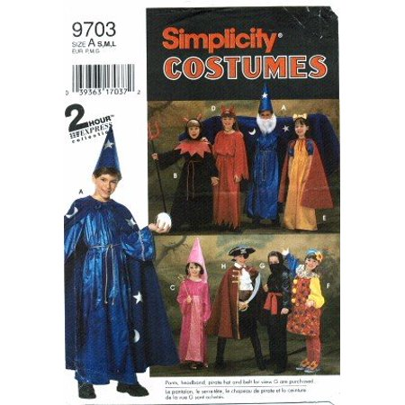 9703 Sewing Pattern Girls & Boys Costumes Size S - M - L, Halloween By Simplicity From USA - Halloween Tangle Patterns