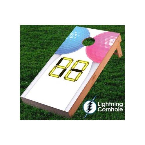 Lightning Cornhole Electronic Scoring Couples Golf Cornhole Board by