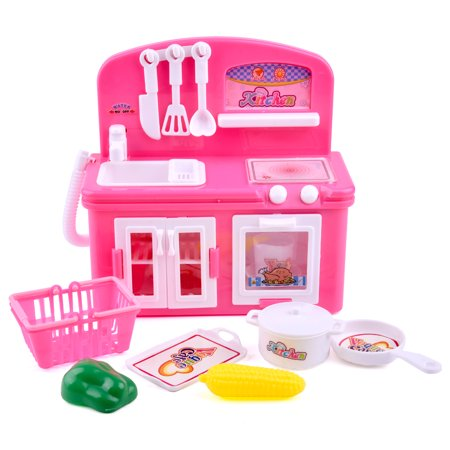 Childs Dinner - Mini Size Toy Kitchen Set Pretend Play Set with Play Food Mini Oven Cooking/Serving Lunch Dinner or Snack Tea Time for Kids F-74