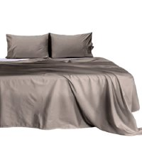 California King Waterbed Sheets Unattached (72 x 84) Inch, 100% Natural 550 TC Cotton, 4 PC Bed Sheet Set, 10 Inch Deep Pocket, Long Staple Cotton (Solid Grey) Fade Resistant