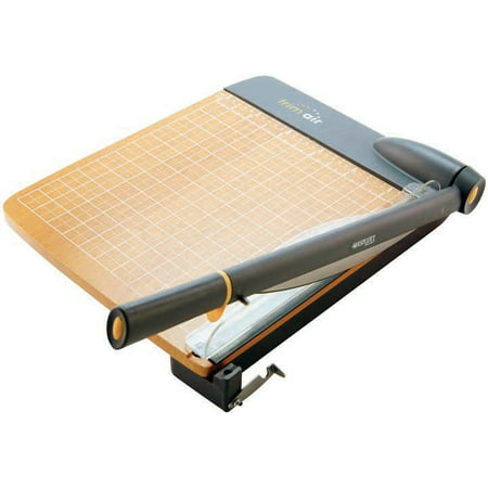 "Westcott 12"" TrimAir Titanium Wood Guillotine Paper Trimmer"