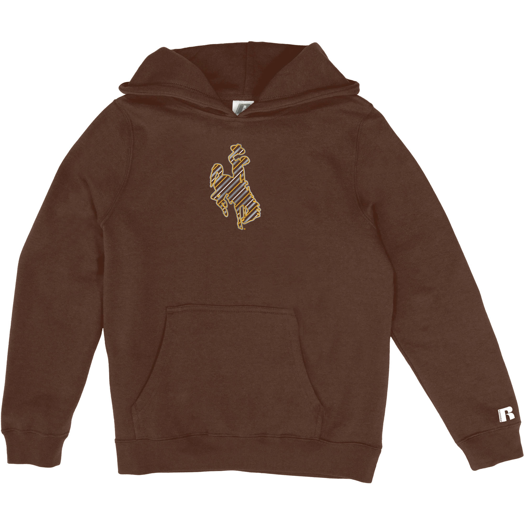 Russell NCAA Wyoming Cowboys, Girls Pullover Hood with Pocket