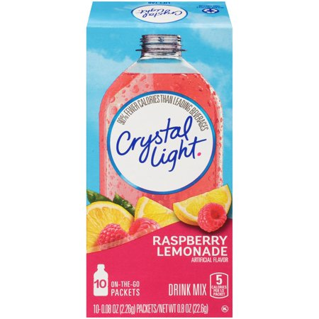 10 Lite Crystal - (6 Pack) Crystal Light On-the-Go Raspberry Lemonade Drink Mix, 10 Packets