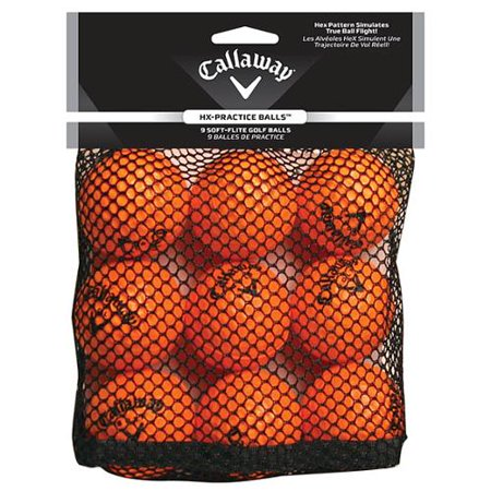Callaway HX Practice Golf Balls - 9 Pack - Orange