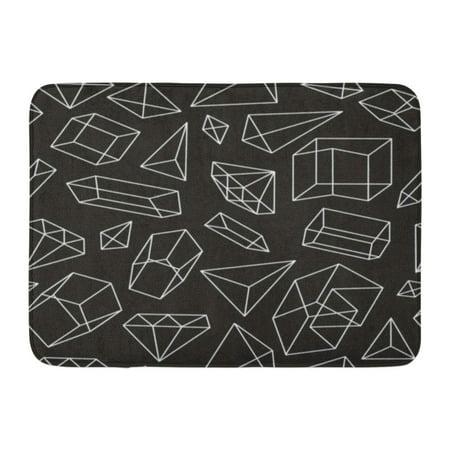 Bath Jewelry Diamond Pattern (GODPOK Triangle Graphic Abstract Geometric Black and White Style Pattern with Figures Diamonds and Lines Jewelry Rug Doormat Bath Mat 23.6x15.7 inch )