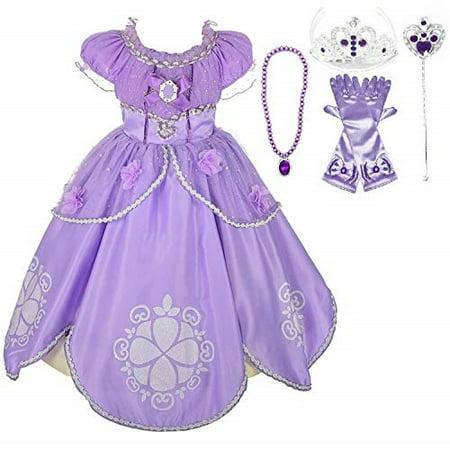 Princess Sofia Party Costume Dress up Set 56
