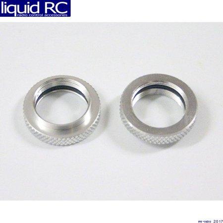 Hot Racing RVO156B08 Aluminum 1/10 GTR Shock Spring Adjusters Collars (Silver)(2