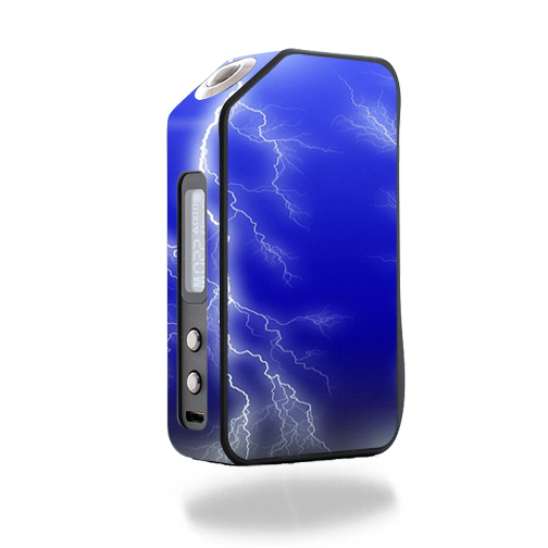 Skin Decal Wrap for Wotofo Stentorian Chieftain 220W mod skins sticker vape Lightning Storm