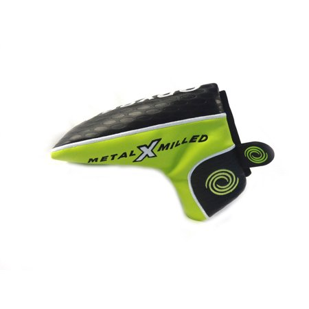 (NEW Odyssey Metal X Milled Magnetic Black/Neon Yellow Blade Putter Headcover)