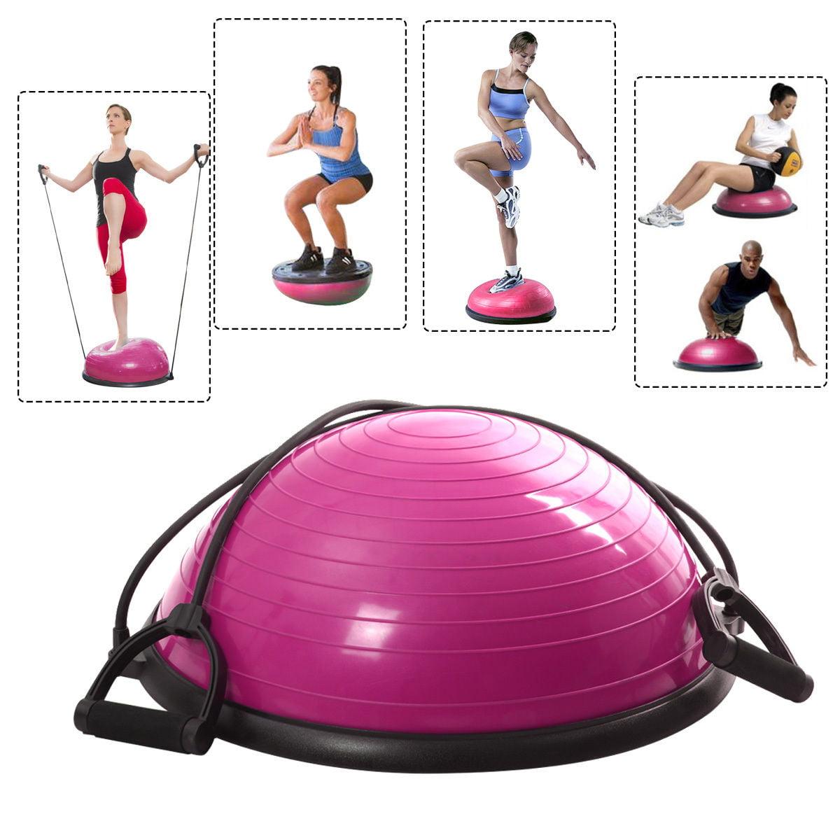 "23/"" Yoga Half Ball Balance Trainer Strength Fitness Exercise Gym w//Pump USA"