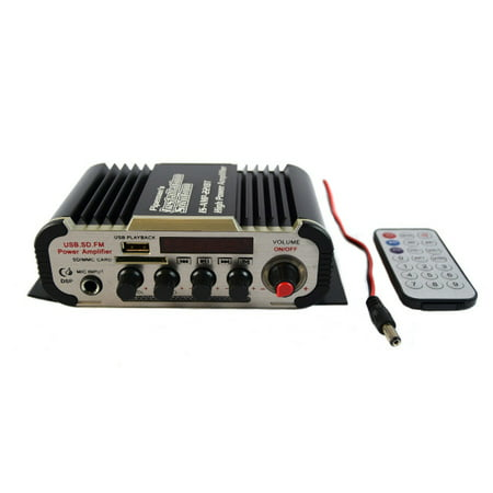 2 Channel Stereo PA Mini Amplifier Bluetooth USB SD Card FM Radio MP3 (Best Pa Amplifier Brands)