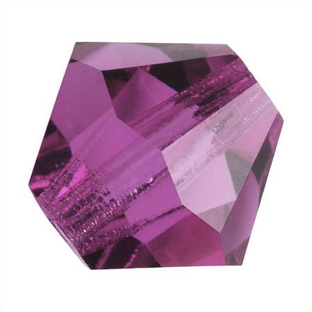 Preciosa Czech Crystal Bicones Glass Beads 4mm 'Amethyst'