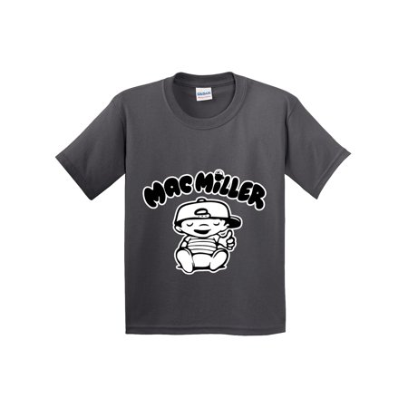 New Way 961 - Youth T-Shirt Mac Miller RIP Rapper Hip-Hop Medium Charcoal