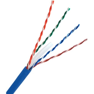 1000ft Cat6a Unshielded Blue 23awg Solid Bare Copper