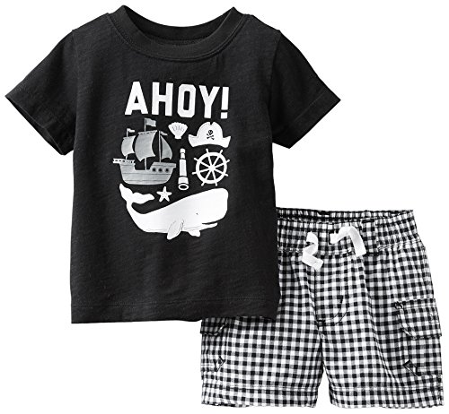 Carter's Baby Boys' 2 Piece Short Set (Baby) - Black - Newborn