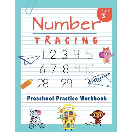 School Writing (Number Tracing Preschool Practice Workbook: Learn to Trace Numbers 1-20 Essential Reading and Writing Book for Pre K, Kindergarten and Kids Ages 3-5 (Paperback))