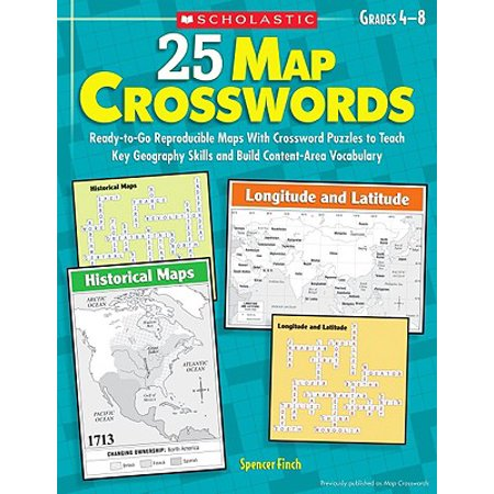 25 Map Crosswords, Grades 4-8 : Ready-To-Go Reproducible Maps with Collection Of Maps Crossword on collection of rulers, collection of books, collection of dirt, collection of magic, collection of work, collection of links, collection of reports, collection of hotels, collection of trees, collection of gems, collection of postage stamps, collection of dinosaurs, collection of fossils, collection of cameras, collection of geronimo, collection of tables, collection of information, collection of data, collection of movies, collection of umbrella,