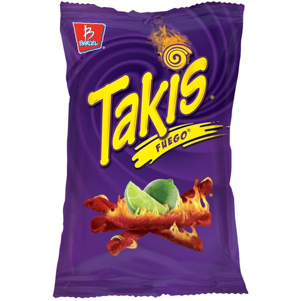 Takis Tortilla Chips Hot Chili Pepper and Lime - Chile y Limon 9.9 Oz