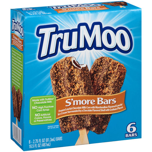 TruMoo S'more Bars Ice Cream, 2.75 fl oz, 6 count