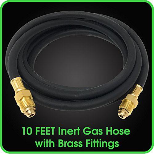 Argon Regulator Gas Rubber Hose Inert Brass Gas Fitting for Welding Application MIG//TIG Fittings Brand New