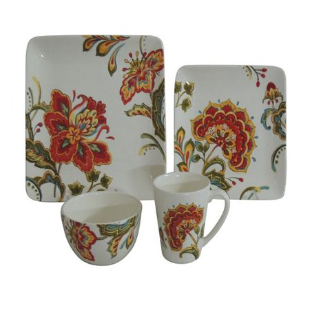 Better Homes And Gardens Floral 16 Piece Dinner Set Ceramic