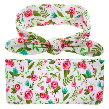 BOBORA Baby Floral Muslin Swaddle Blankets