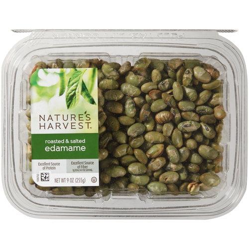 Nature's Harvest Roasted & Salted Edamame, 9 oz
