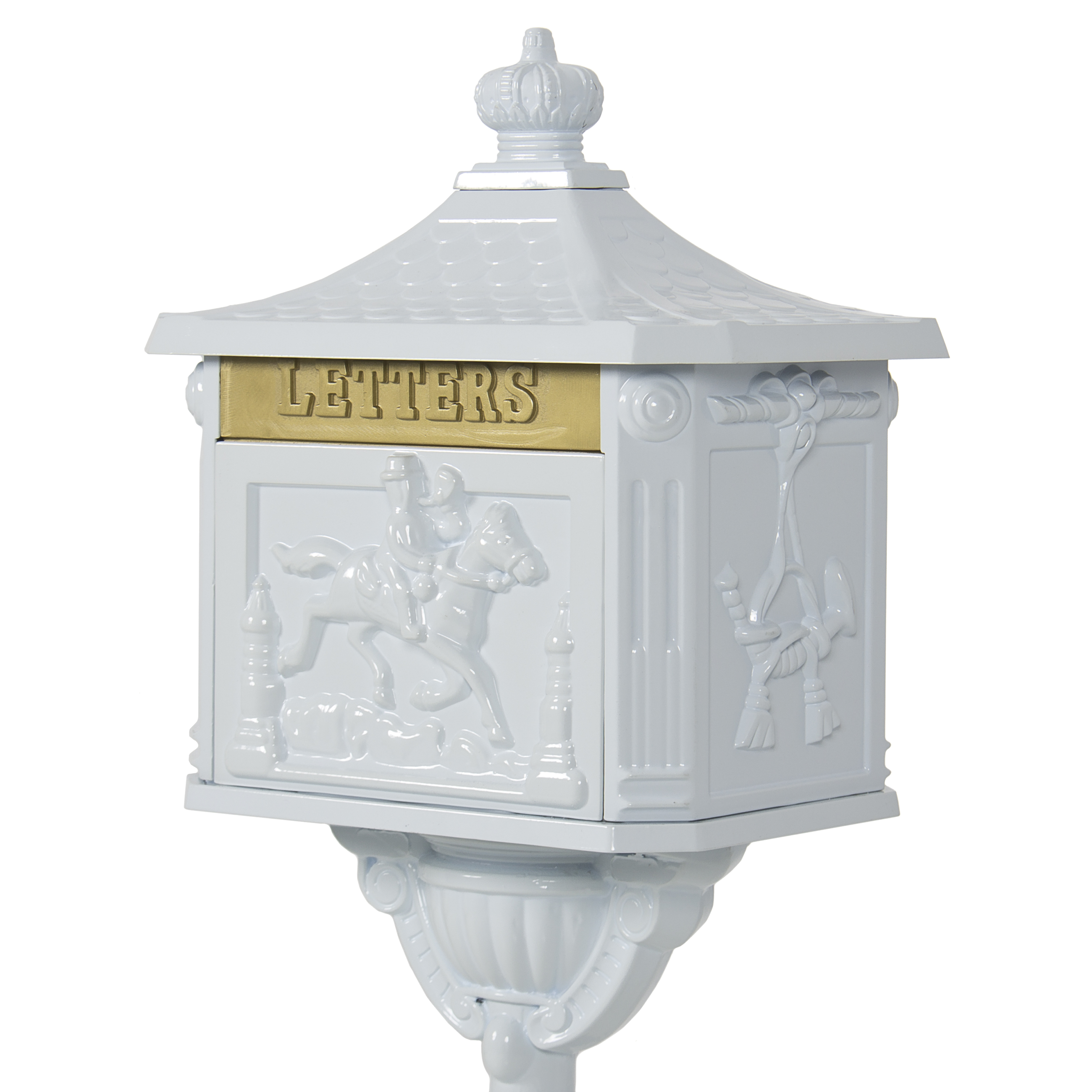 aluminum free mail home today overstock lexington pedestal victorian keys box with mailbox installed pre bronze and shipping product antique cast garden lock