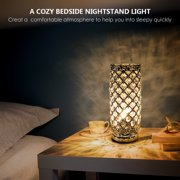 LED Crystal Table Lamps without bulb, Decorative Bedside Nightstand Desk Lamp Shade for Bedroom, Living Room, Dining Room