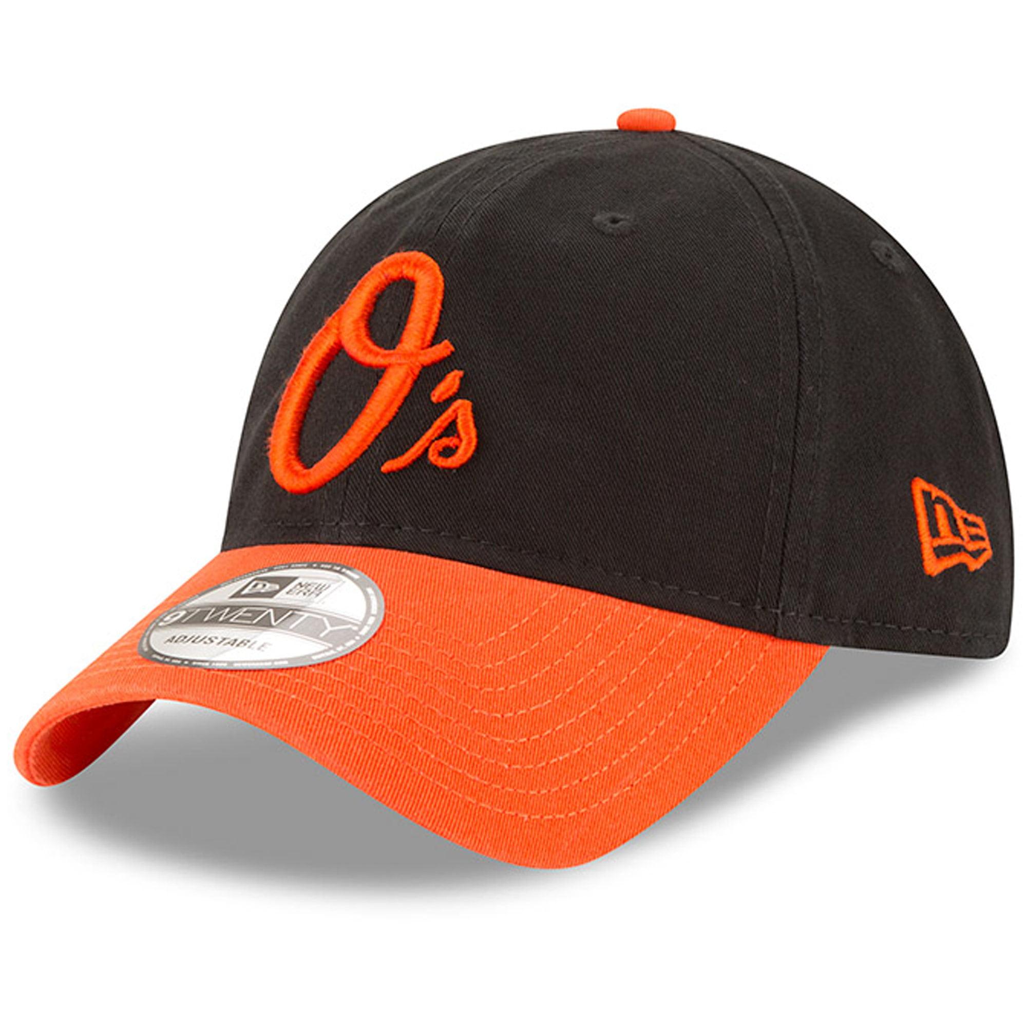 Baltimore Orioles New Era Road Replica Core Classic 9TWENTY Adjustable Hat - Black/Orange - OSFA