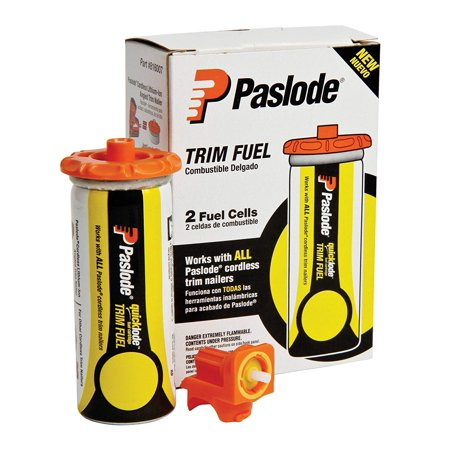 816007 Universal Short Yellow Trim Fuel, 2-Pack, Adapter disk to be used with Paslode lithium ion tools, metering valve with Nicd tools By Paslode (Paslode Replacement Parts)