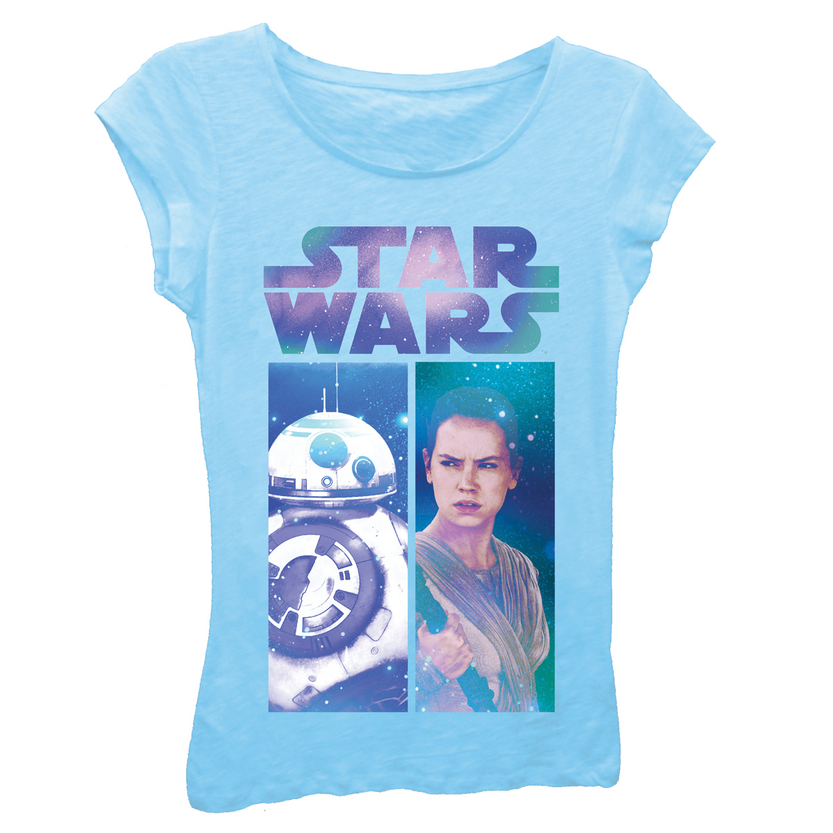 Girls' Star Wars Galactic Rey and BB-8 Panels Graphic T-Shirt