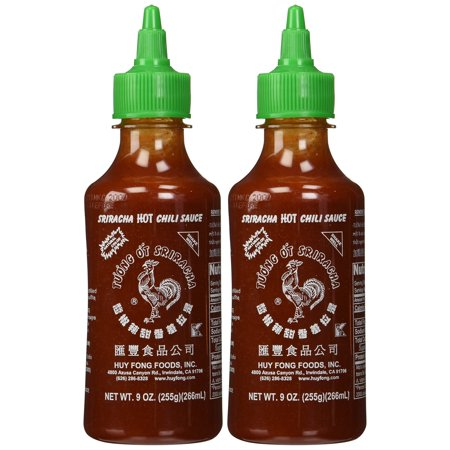 Huy Fong, Sriracha Hot Chili Sauce, 9 Ounce Bottle (2 Pack) Red ()