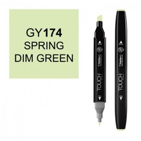 ShinHan Art 1110174-GY174 Twin Spring Dim Green Marker, Black - image 1 de 1