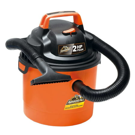 Armor All 2.5 Gallon Portable Wall Mountable Wet/Dry Utility Vaccum, Orange