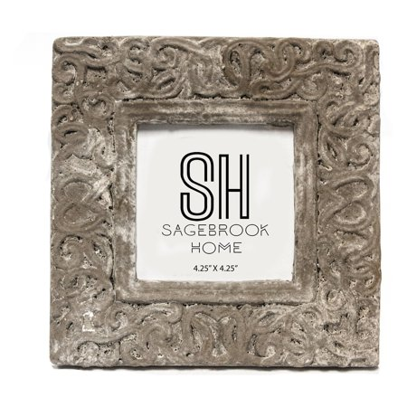 UPC 713543867855 product image for Sagebrook Home Cement Photo Frame - Brown | upcitemdb.com