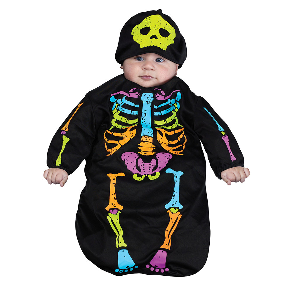 Baby Skeleton Bunting Costume Size Up to 9 Months