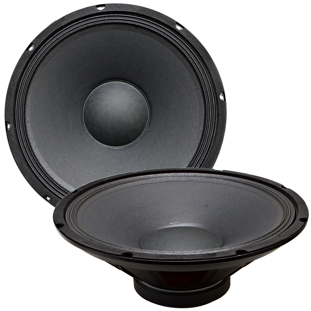 seismic audio pair of 15 raw woofers speakers drivers pa dj replacement pro audio 4 ohms. Black Bedroom Furniture Sets. Home Design Ideas