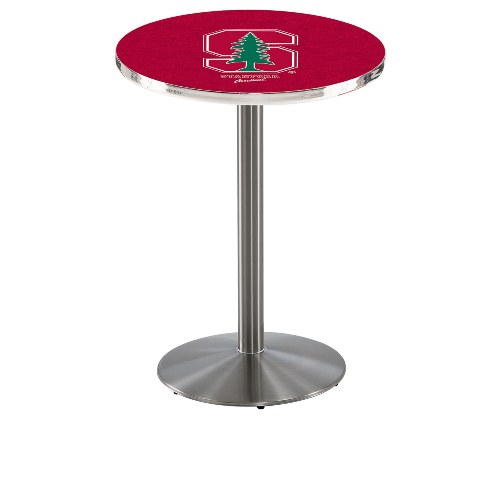 NCAA Pub Table by Holland Bar Stool, Stainless - Stanford, 42'' - L214