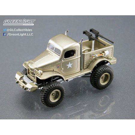 Stacey David's Sargeant Rock 1941 Military Dodge 1/2 Ton 4x4 Pick Up Truck 1/64 Diecast Model by Acme/ Greenlight