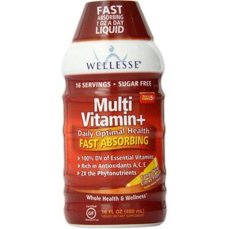 Wellesse multivitamines rapide Absorbant, complète B-Complex, Tangy nouvelle saveur d'agrumes, 16 oz (pack de 2)