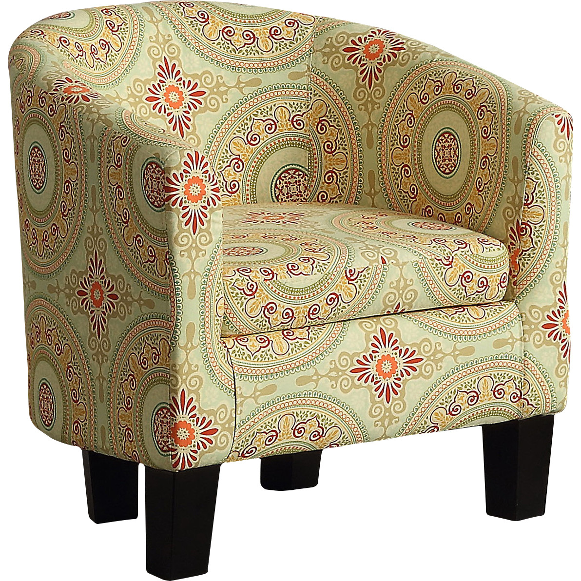 Alton Furniture Fiora Floral Medallion Barrel Chair, Contemporary Accent Chair, More Pattern Option by Fully Wind Co, Ltd.