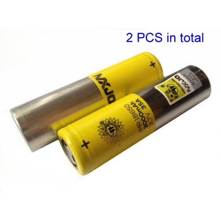 2 Authentic MXJO 3000mAh 18650 Flat Top Battery/ 35A 3.7V High Drain/ 2PCS New -